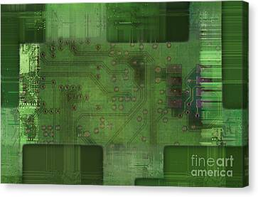 Printed Circuit - Motherboard Canvas Print by Michal Boubin