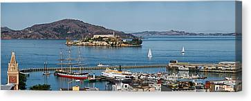 Prison On An Island, Alcatraz Island Canvas Print by Panoramic Images