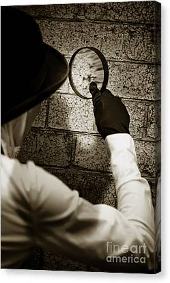 Private Eye Searching For Clues Canvas Print by Jorgo Photography - Wall Art Gallery