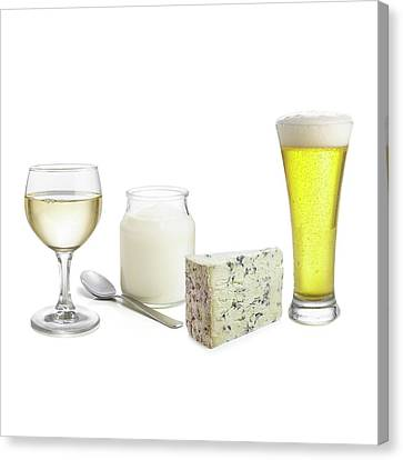 Fermentation Canvas Print - Products Of Fermentation by Science Photo Library