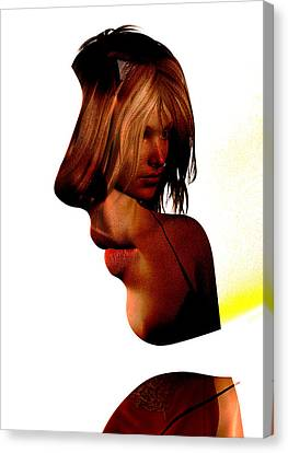 Profile Of A Woman Canvas Print