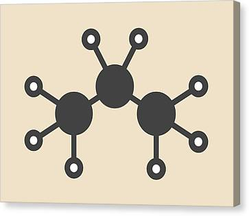 Propane Hydrocarbon Molecule Canvas Print by Molekuul