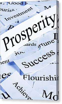 Prosperity Concept Canvas Print by Colin and Linda McKie