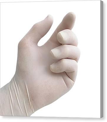 Protective Latex Glove Canvas Print