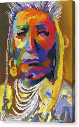 Proud Native American II Canvas Print by Stephen Anderson