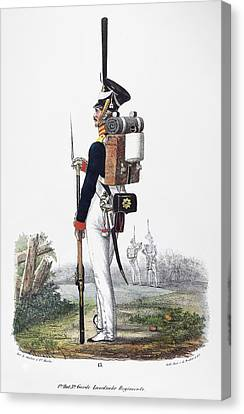 Infantryman Canvas Print - Prussian Soldier, 1830 by Granger