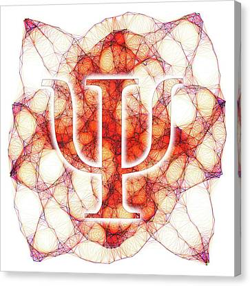 Psi Symbol And Artwork Of A Wavefunction Canvas Print by Alfred Pasieka