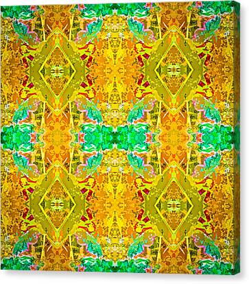Canvas Print featuring the photograph Psychedelic Diamond by  Onyonet  Photo Studios