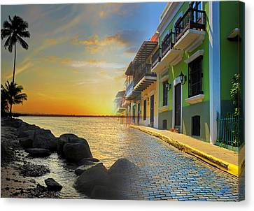 Puerto Rico Collage 4 Canvas Print by Stephen Anderson