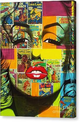 Pulp Marilyn Canvas Print