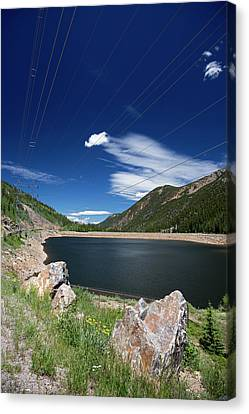 Pumped Storage Hydroelectric Project Canvas Print by Jim West