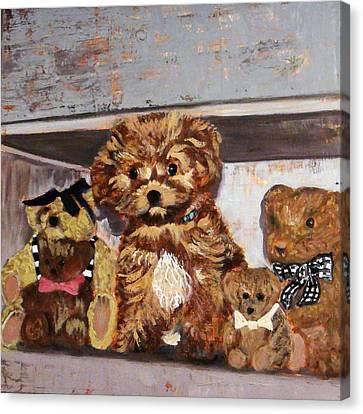Puppy And Bears Canvas Print