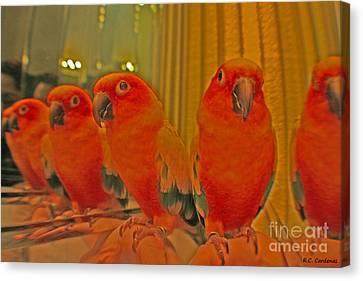 Purdy Peaches Canvas Print by Rebecca Christine Cardenas