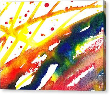 Pure Color Inspiration Abstract Painting Parallel Perception Canvas Print by Irina Sztukowski