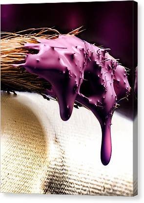 Purple Drip Canvas Print by Camille Lopez