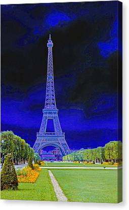 Purple Eiffel Canvas Print by Chuck Staley