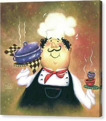 Purple Pot Chef Canvas Print