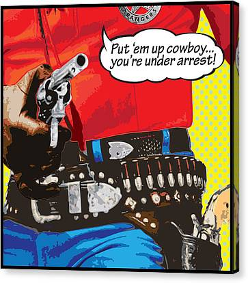 Put Em Up Canvas Print by Gary Grayson