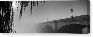 Putney Bridge During Fog, Thames River Canvas Print