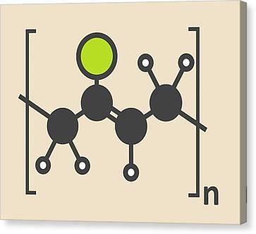 Pvc Plastic Polymer Molecule Canvas Print by Molekuul