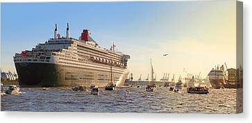 Queen Mary 2 Canvas Print by Marc Huebner