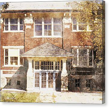 Queen St. School Canvas Print by The Art of Marsha Charlebois