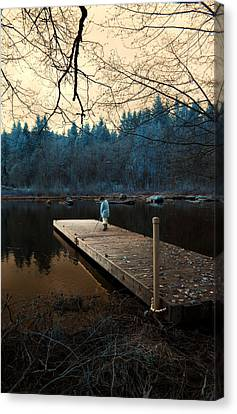 Canvas Print featuring the photograph Quiet Moments by Rebecca Parker