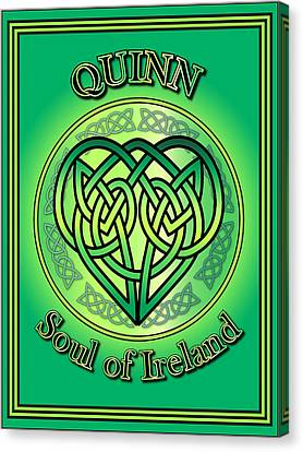 Quinn Soul Of Ireland Canvas Print by Ireland Calling