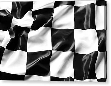 Racing Flag Canvas Print by Les Cunliffe