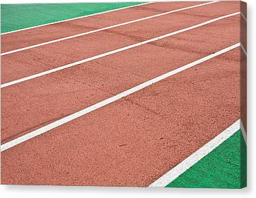 Racing Track Canvas Print by Tom Gowanlock