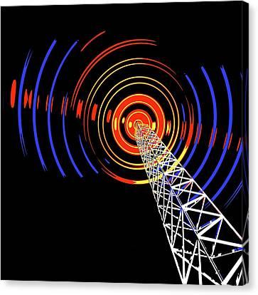 Radio Communications Tower Canvas Print