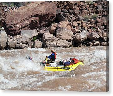 Rafting The Colorado Canvas Print by Jim West