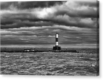 Canvas Print featuring the photograph Raging Lake Michigan by Ricky L Jones