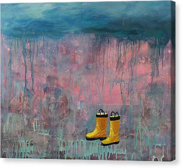 Rainy Day Galoshes Canvas Print