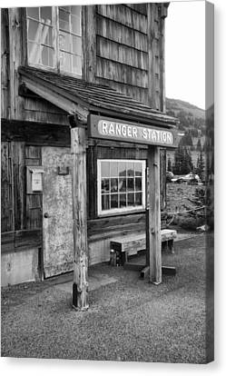 Canvas Print featuring the photograph Ranger Station Mount Rainier National Park by Bob Noble Photography