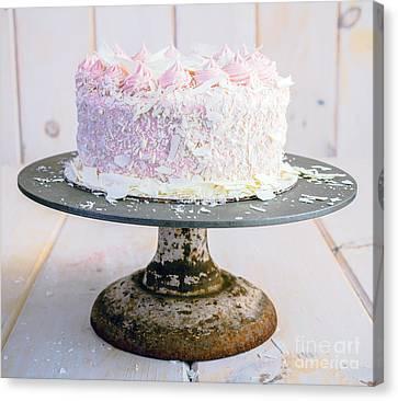 Raspberry White Chocolate Cake Canvas Print by Edward Fielding