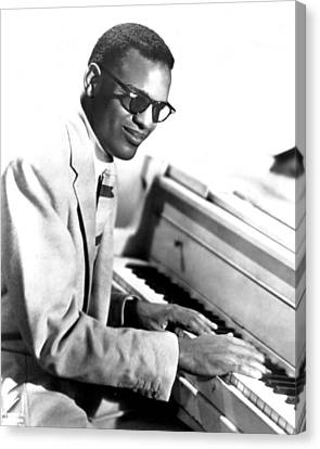 Piano Canvas Print - Ray Charles by Retro Images Archive