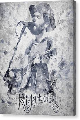 Sun Rays Canvas Print - Ray Lamontagne Portrait by Aged Pixel
