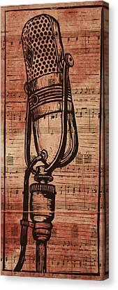 Rca 77 On Music Canvas Print