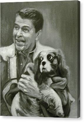 Reagan And Rex Canvas Print
