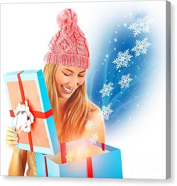 Receive Christmas Present Canvas Print by Anna Om