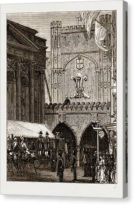 Reception Of The Prince Of Wales In The City Canvas Print by Litz Collection