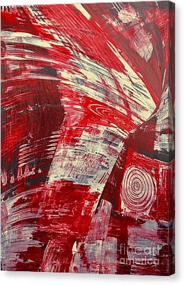 Red And White Canvas Print by Gabriele Mueller