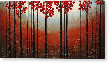 Red Blossom Canvas Print by Carmen Guedez