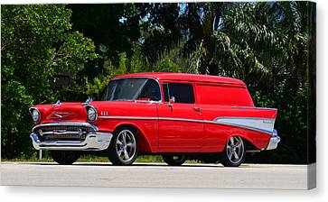 Red Chevy Canvas Print by David Lee Thompson