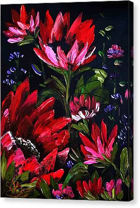 Red Flowers Canvas Print by Shirwan Ahmed
