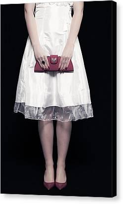 Red Handbag Canvas Print by Joana Kruse