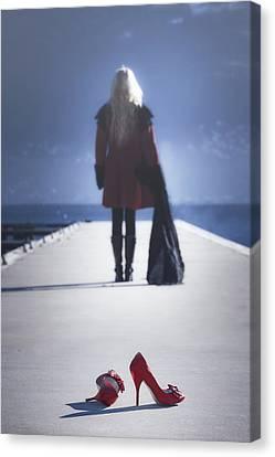 Red High Heels Canvas Print by Joana Kruse