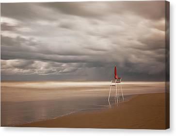 Empty Canvas Print - Red by Massimo Della Latta