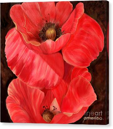 Red Poppy One Canvas Print by Joan A Hamilton